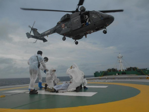 Visual from the evacuation (Image Source: Southern Naval Command)