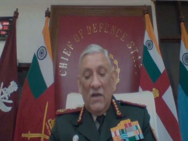 CDS General Bipin Rawat speaking at the Second Annual Dialogue with The Nepal Institute for International Cooperation and Engagement (NIICE).