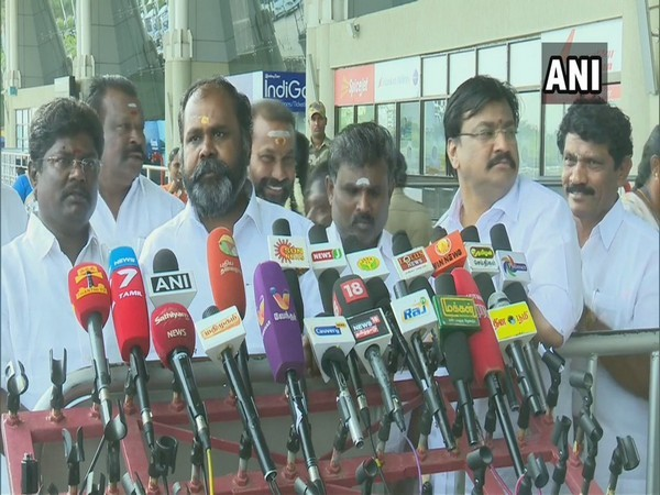 Tamil Nadu Minister RB Udaykumar talking to media in Madurai on Sunday.