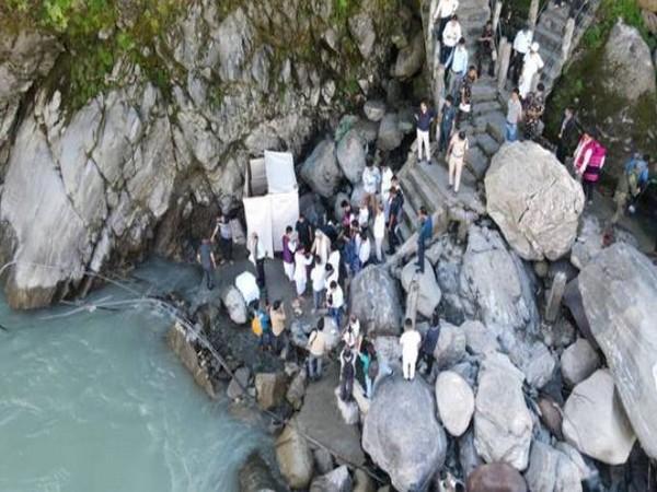 Visuals of Parshuram Kund in Arunachal Pradesh.