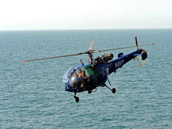 Representative Image of an Indian Navy light utility chopper.