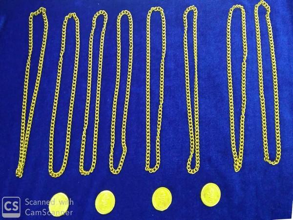 Gold seized at Chennai airport.