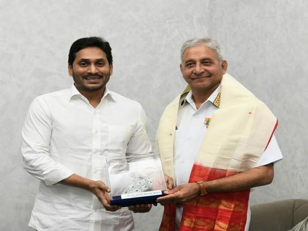 Vice Admiral Atul Kumar Jain meets Andhra CM YS Jagan Mohan Reddy