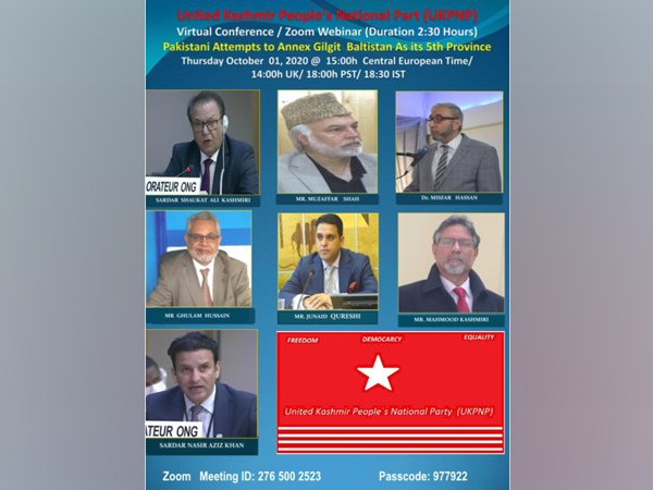 The webinar is being organised by the United Kashmir People's National Party (UKPNP).