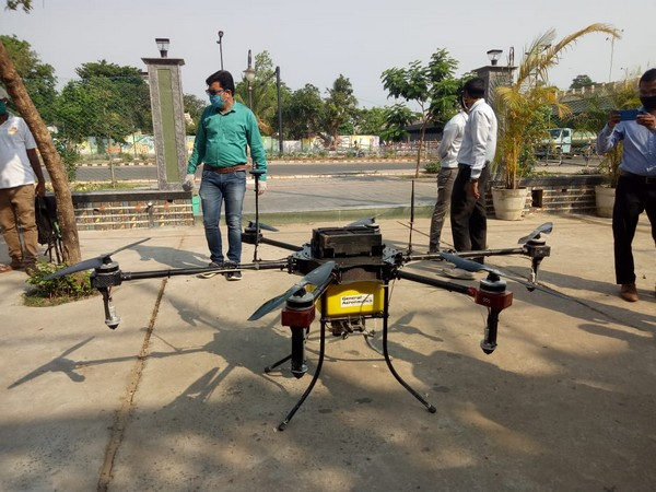 Drones used to clean roads in Bhubaneswar [Photo/ANI]