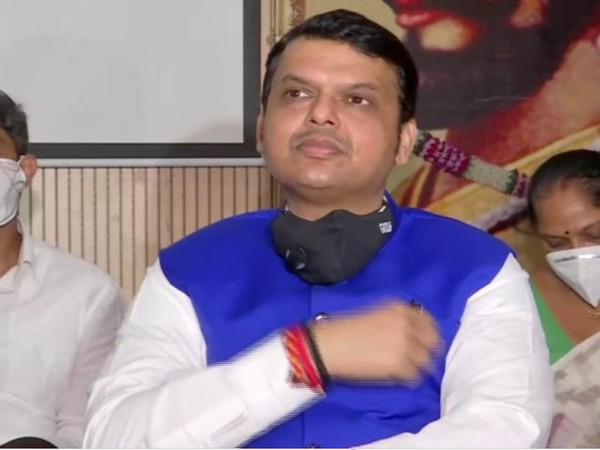 Former Maharashtra Chief Minister Devendra Fadnavis during a press conference in Pune on Saturday. (Photo/ANI)