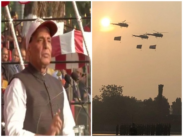 Defence Minister Rajnath Singh reviewed the passing out parade of 137th course at NDA in Pune on Saturday