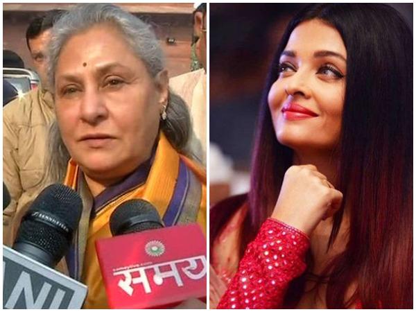 Jaya Bachchan (left) Aishwarya Rai Bachchan (right) [File photo]