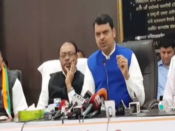 Maharashtra Chief Minister Devendra Fadanvis speaking at press conference here on Friday. Photo/ANI