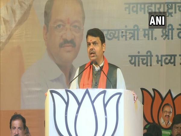 maharshtra CM Devendra Fadnavis addressing a public rally at Mumbai on Tuesday