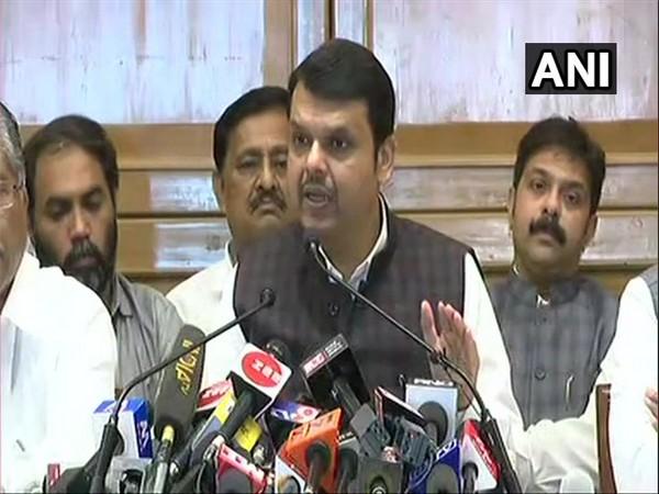 Devendra Fadnavis addressing a press conference in Mumbai on Friday.