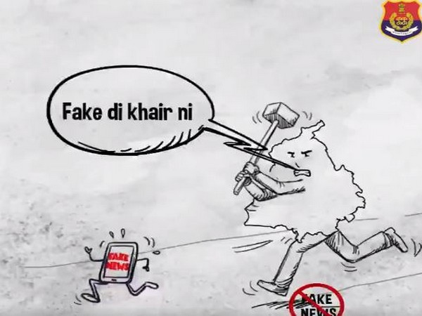A still from the clip shared by Punjab Police