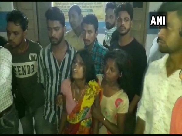 Family members were inconsolable after death of two children in Aurangabad. (Photo/ANI)