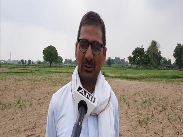 Brajesh Pal Singh, a farmer speaking to ANI in Aligarh. (Photo/ANI)