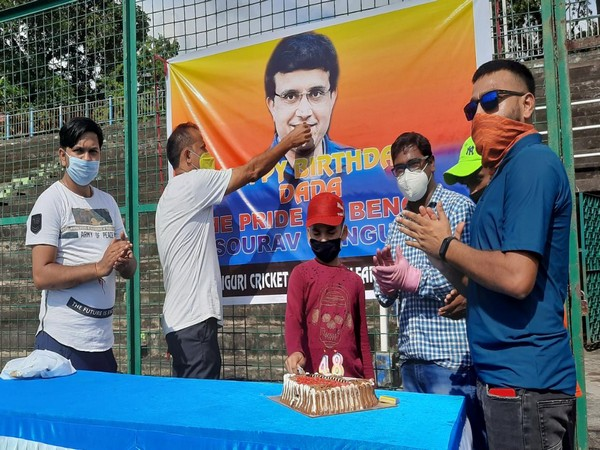 Fans celebrating Sourav Ganguly's birthday