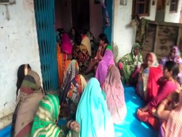 A visual from the house of the deceased farmer in Barabanki, Uttar Pradesh, on Saturday. Photo/ANI
