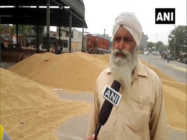 Farmer from Punjab, Sukhdev Singh speaking to ANI. (Photo/ANI)