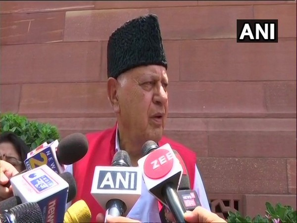 NC MP Farooq Abdullah speaking to reporters in New Delhi on Monday. Photo/ANI