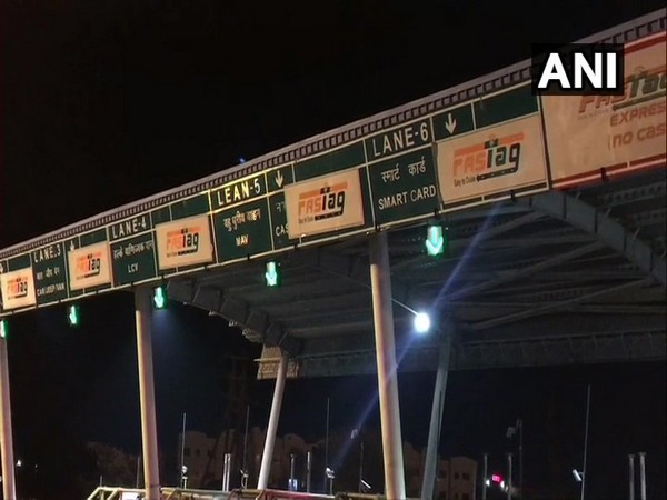 A visual from a toll plaza in Indore. (Photo/ANI)