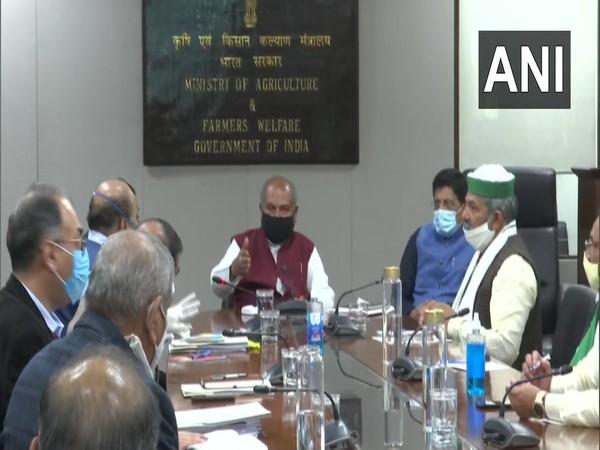 A visual from the meeting at Vigyan Bhawan. (Photo/ANI)
