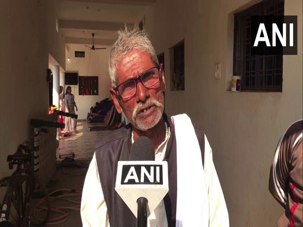 Sukru, father of Ashwini Kachhi, CRPF soldier who lost his life in Pulwama terror attack in 2019. (Photo/ANI)