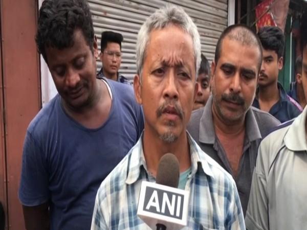 Father of slain jawan Naik Subhash Thapa, Teg Bahadur Thapa talking to ANI on Saturday. Photo/ANI