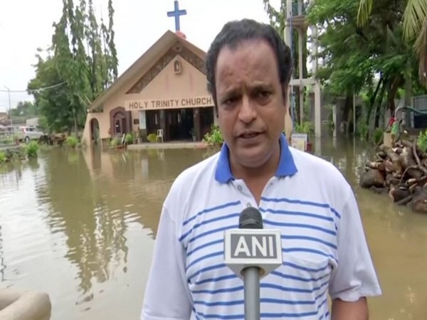 Raju Alex, the priest of Holy Trinity Church in Hyderabad while speaking to ANI. (Photo/ANI)