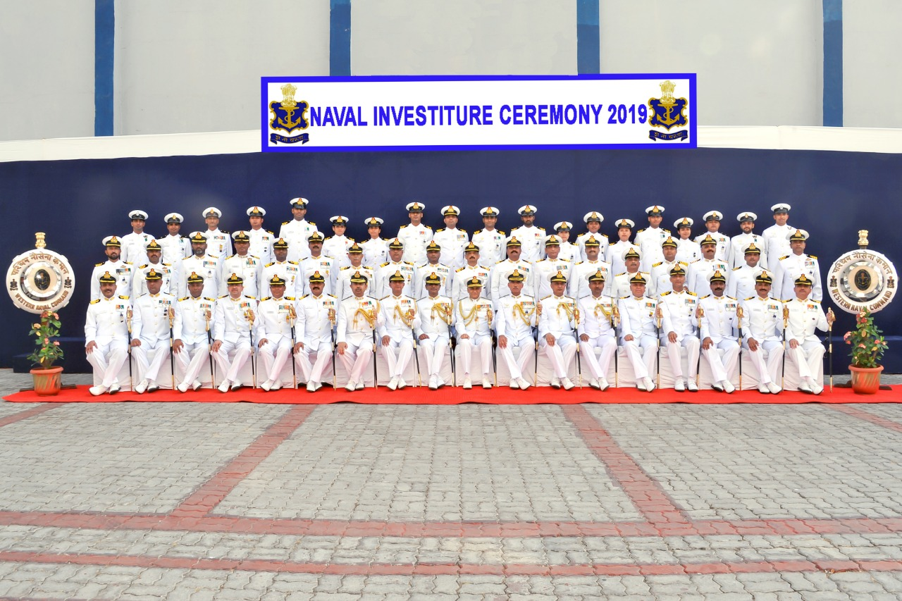 The Naval Investiture Ceremony organised in Mumbai on Wednesday.