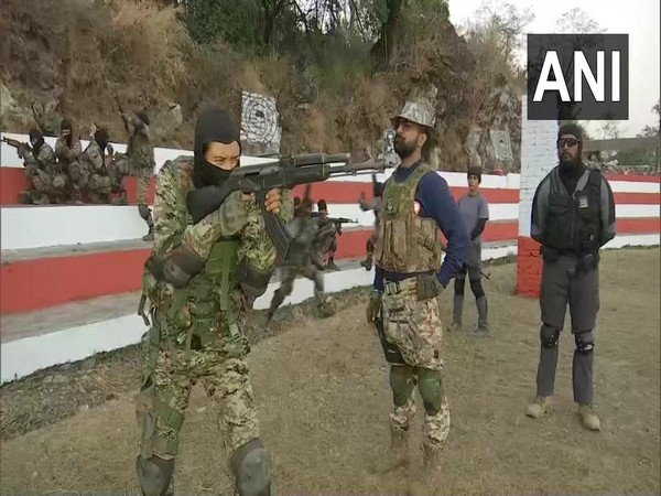 Commandos undergoing training at Police Training College in Narendra Nagar of Tehri Garhwal district