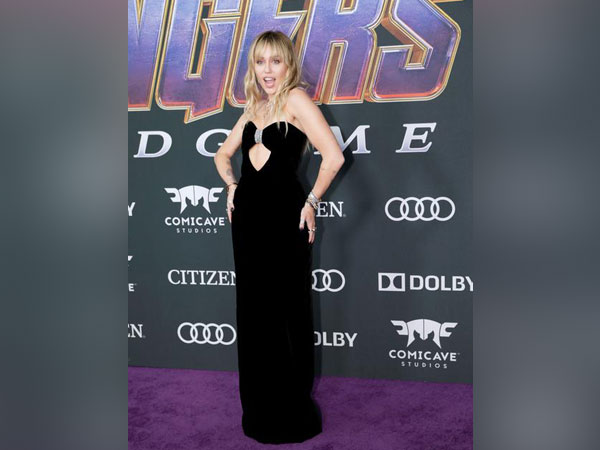 Singer Miley Cyrus at the world premiere of movie Avengers: Endgame in Los Angeles, California, U.S., April 22, 2019