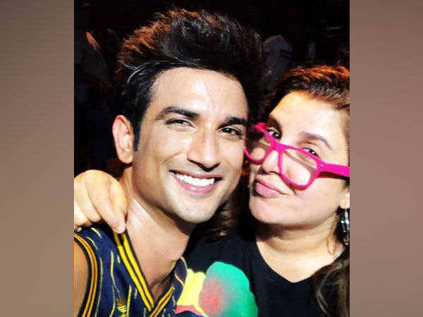 Farah Khan with late actor Sushant Singh Rajput (Image Source: Instagram)