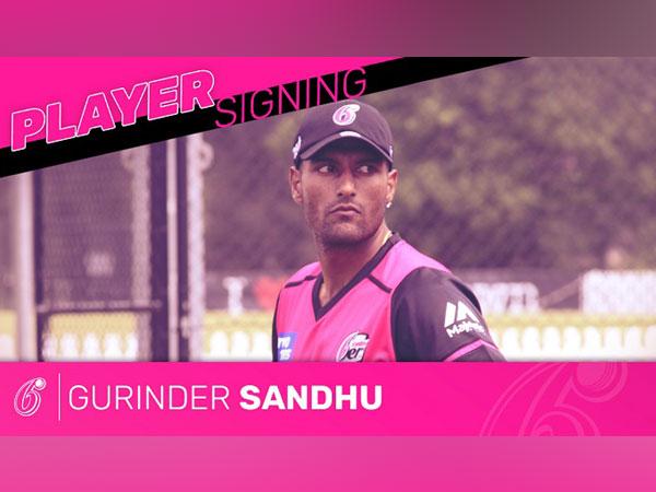 Former Australian ODI fast bowler Gurinder Sandhu  (Image: Sydney Sixers' Twitter)