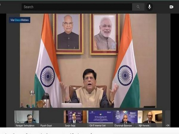 Visual of the meeting chaired by Union Minister Piyush Goyal (Photo/ANI)