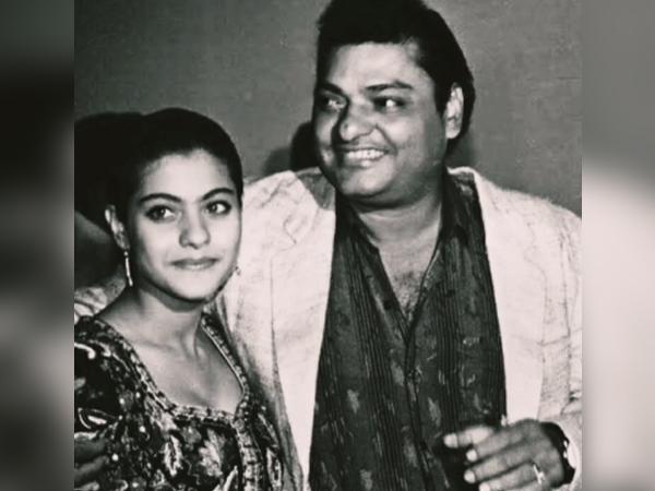 Actor Kajol with late father Shomu Mukherjee (Image Source: Instagram)