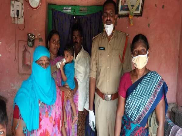 Andhra Pradesh Police successfully handed over one-year-old baby girl to a woman (Photo/ANI)