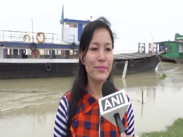 A local while speaking to ANI in Majuli, Assam on Sunday. Photo/ANI