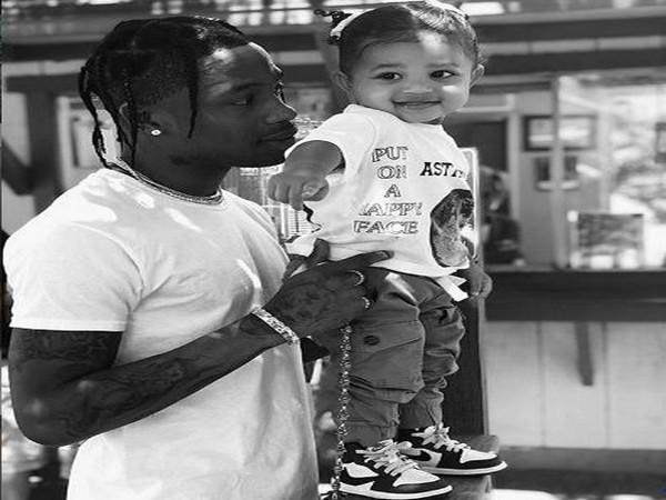 Travis Scott with daughter Stormi Webster