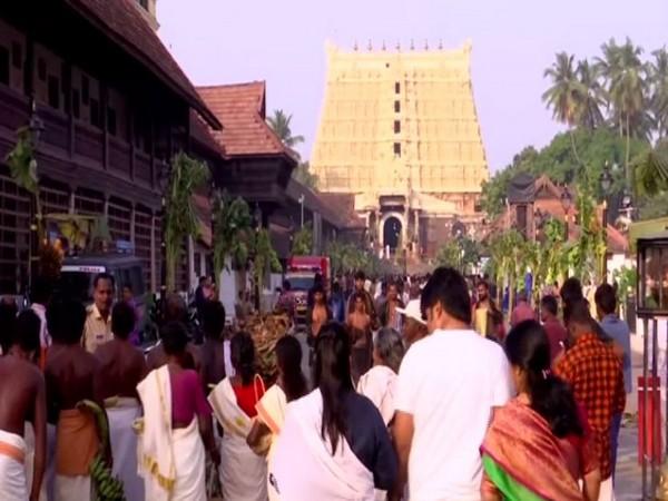 Devotees visit Sree Padmanabhaswamy temple on Makar Sankranti on Wednesday (Photo/ANI)