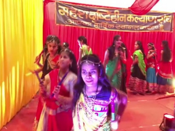 Visually impaired girls playing Garba in Indore
