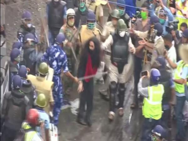 A visual from the Nabanna Chalo Abhiyaan in Kolkata yesterday. (file photo)