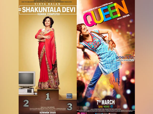 Posters of 'Shakuntala Devi' and 'Queen'
