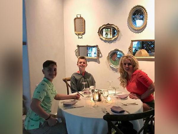 Britney Spears with sons Sean Preston and Jayden James Federline, Image Courtesy: Instagram