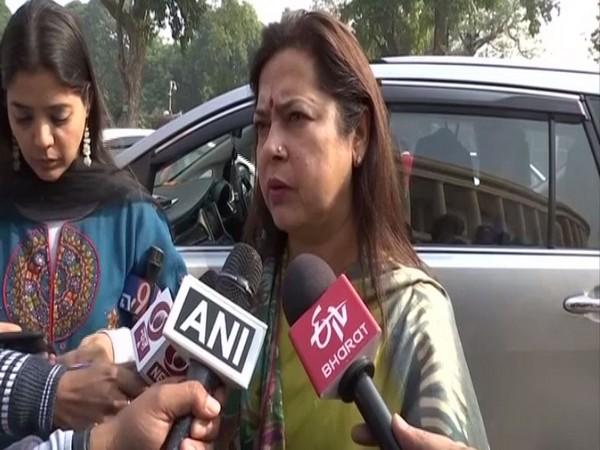 BJP MP Meenakshi Lekhi spoke to media in New Delhi on Friday. Photo/ANI