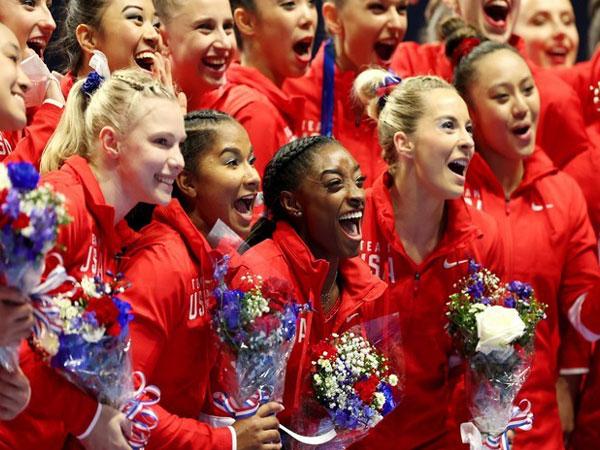 USA women's artistic gymnastics team (Photo: Twitter/Simone Biles)