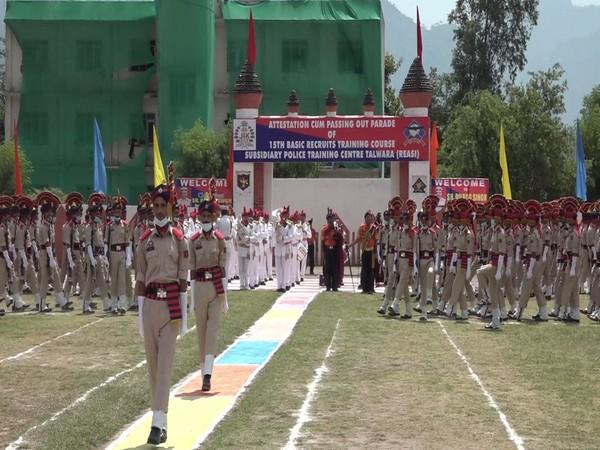 J-K police's attestation-cum-passing out parade held at STC in Talwara, Reasi