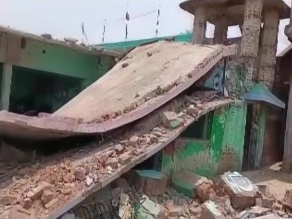 A visual form the site of blast (ANI).