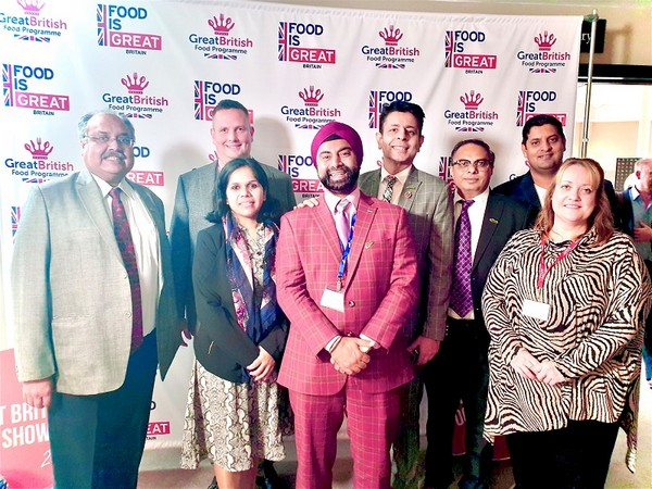 Historic Image of Forum of Indian Food Importers members along with the DIT's Great Britain Food Program Team and UKIBC representative, in Birmingham, UK