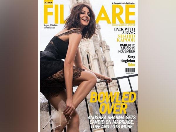 Anushka Sharma as the cover girl on Filmfare magazine (Image courtesy: Instagram)
