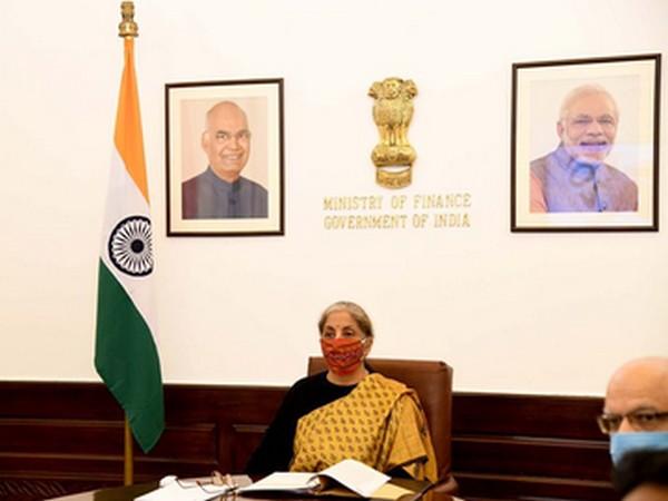 Union Minister Nirmala Sitharaman at G20 Finance Ministers virtual meeting on Friday.