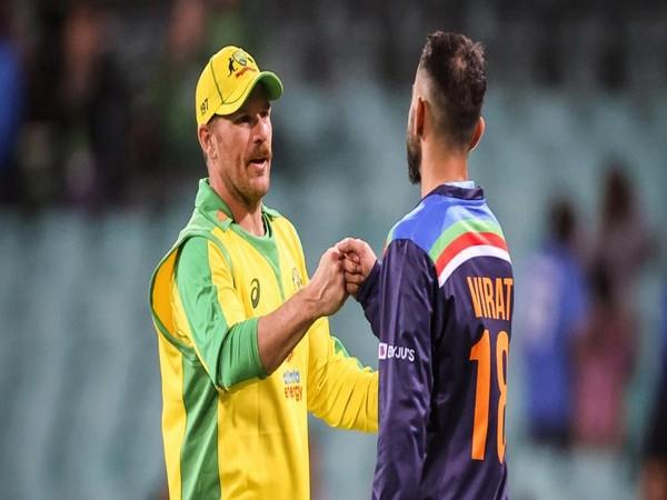 Australia skipper Aaron Finch and India captain Virat Kohli (Image: ICC's Twitter)